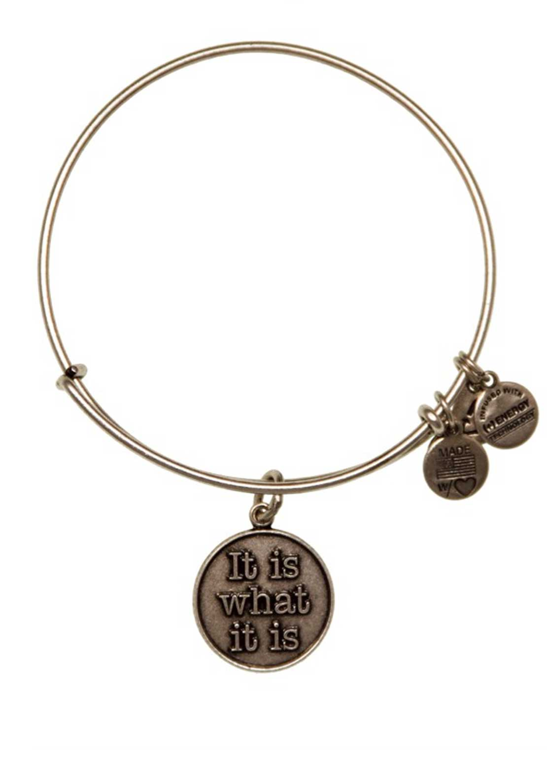 Alex and Ani (+) Energy Words are Powerful It Is What It Is Bracelet, Silver