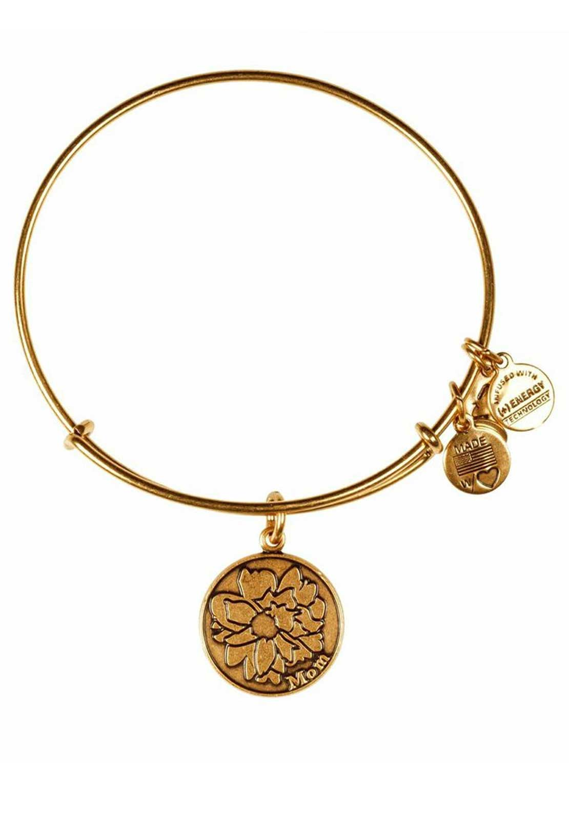 Alex and Ani Because I Love You Mom Bracelet, Gold
