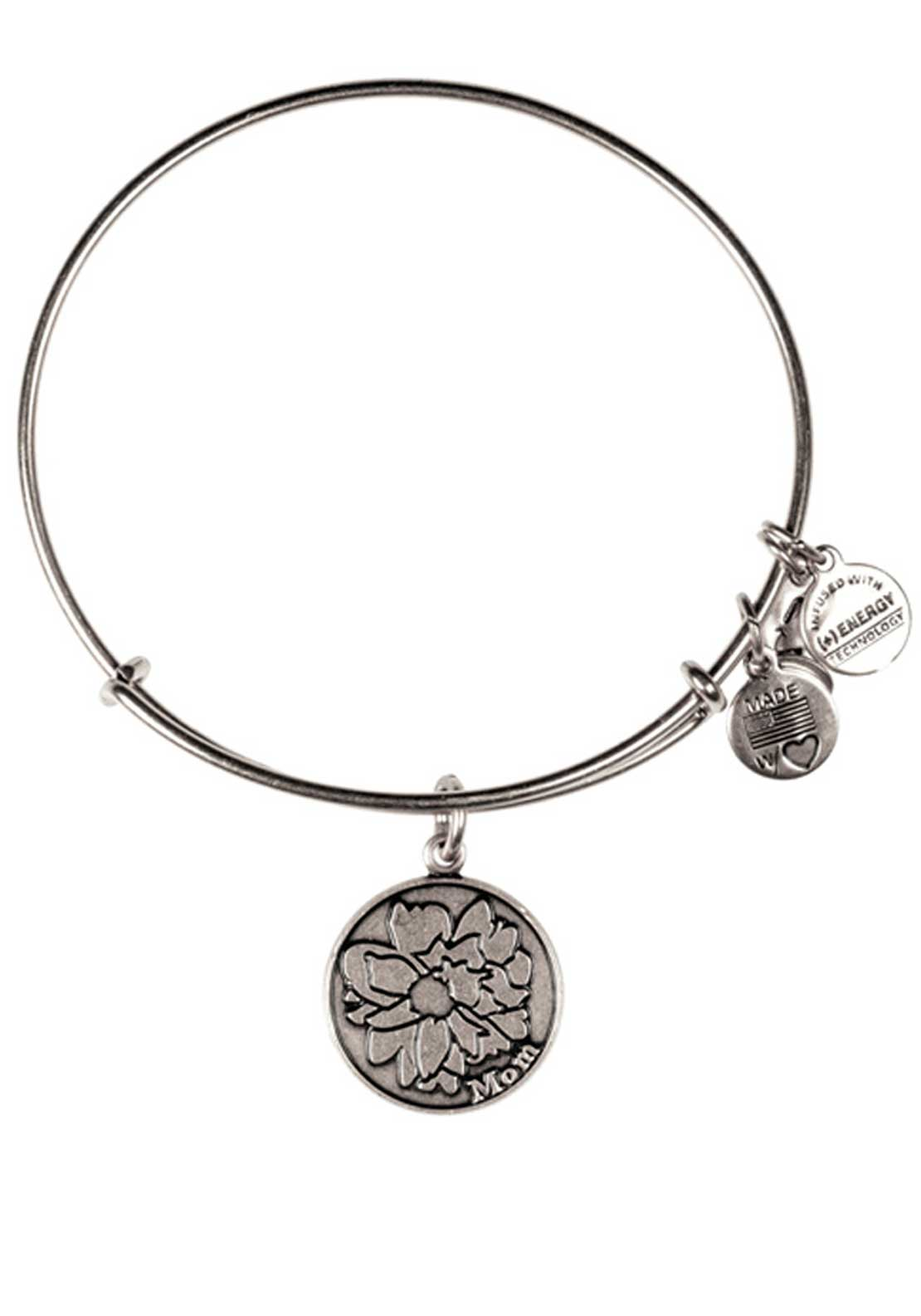 Alex and Ani Because I Love You Mom Bracelet, Silver