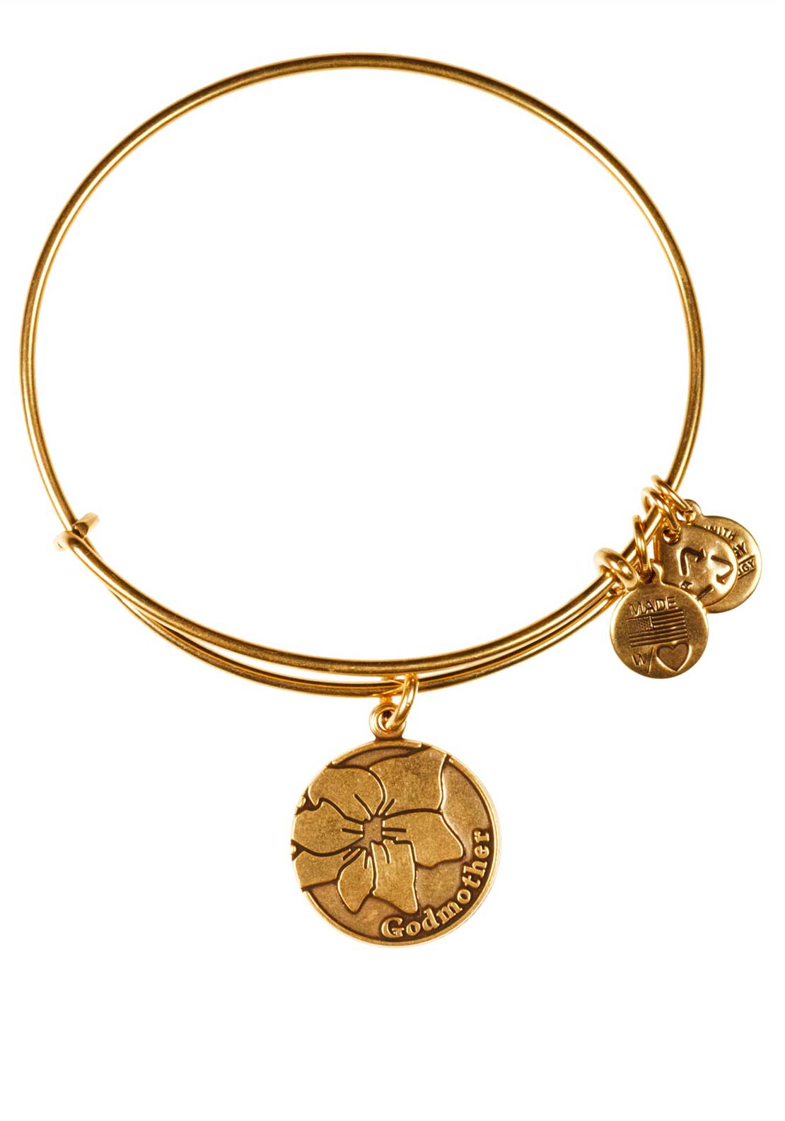 Alex and Ani (+) Energy Because I love you Godmother Bracelet, Gold