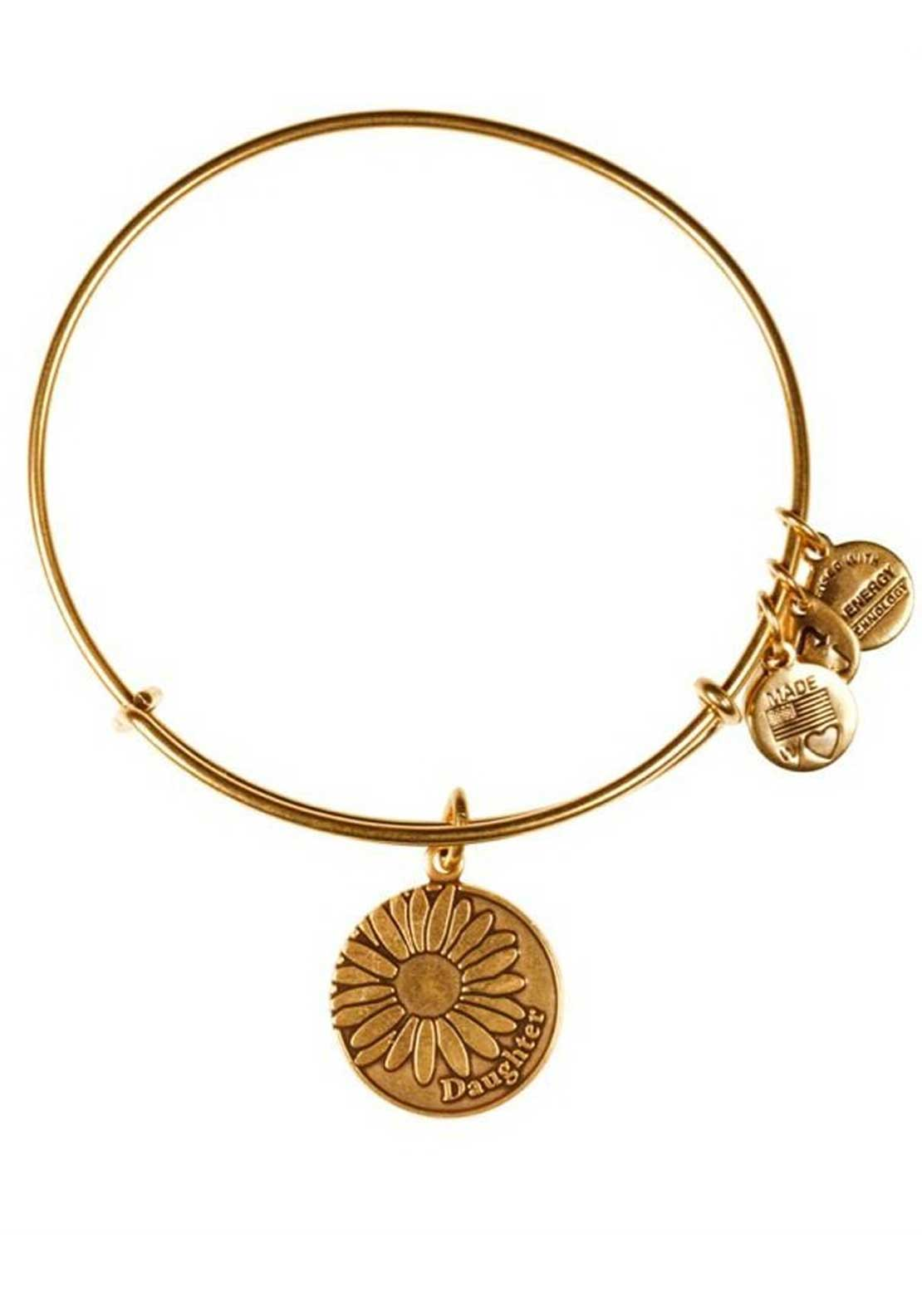 Alex and Ani Because I Love You Daughter Bracelet, Gold