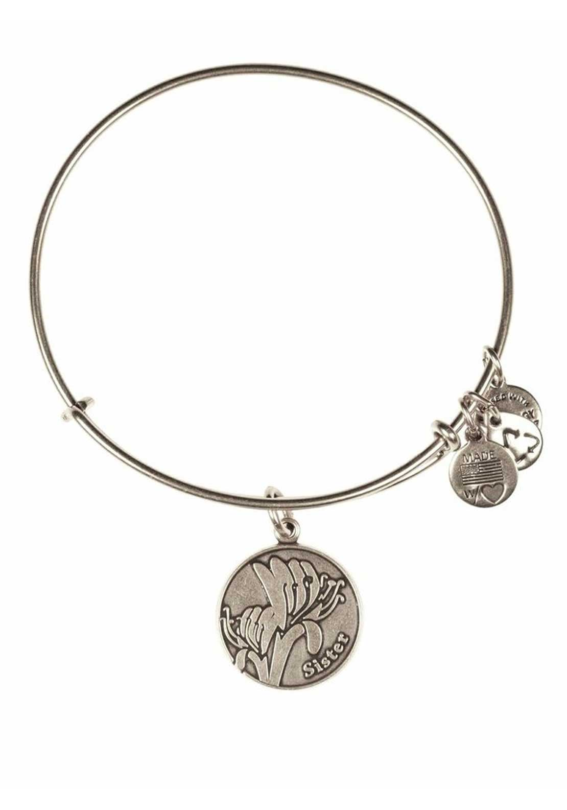 Alex and Ani Because I love you Sister Bracelet, Silver
