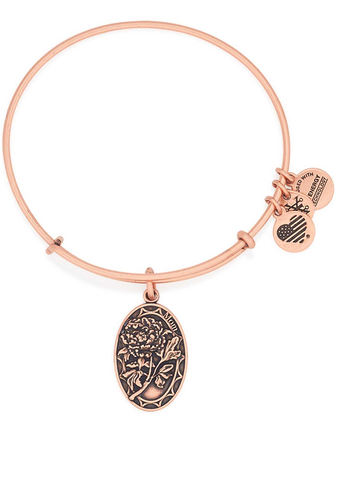 Alex and Ani Because I Love You Mom Peony Bracelet, Rose Gold