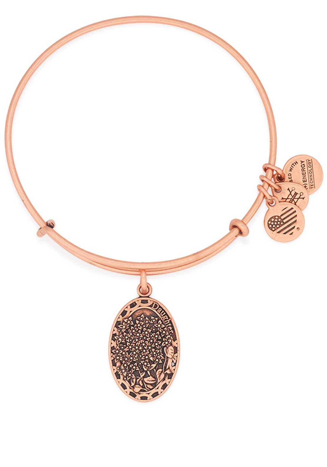 Alex and Ani Because I Love You Daughter Lilac Bracelet, Rose Gold