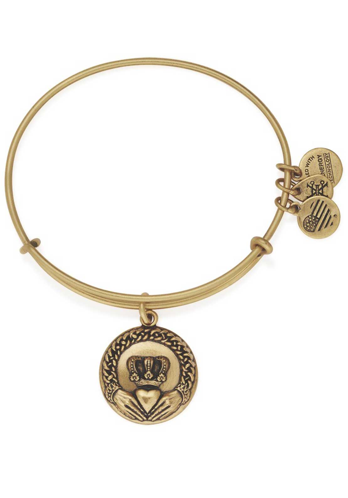 Alex and Ani Claddagh Bracelet, Gold