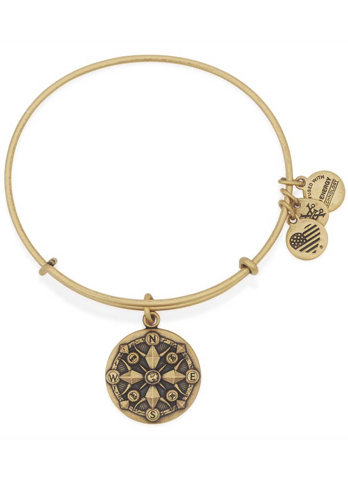 Alex and Ani Compass Bracelet, Gold