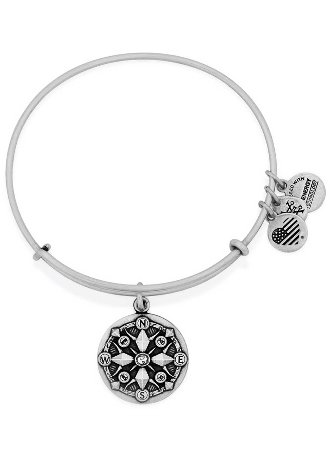 Alex and Ani Compass Bracelet, Silver