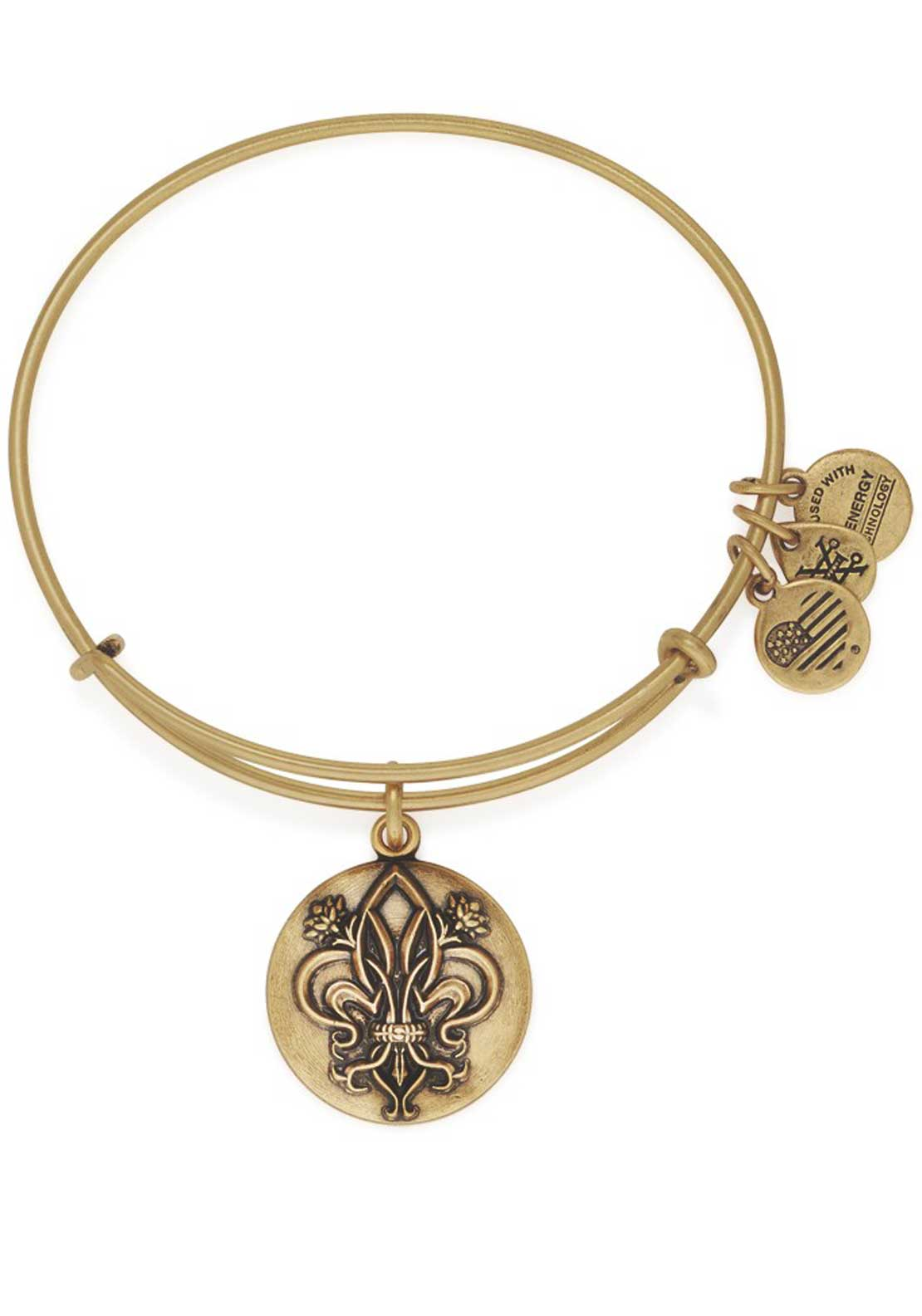 Alex and Ani Fleur De Lis Bracelet, Gold