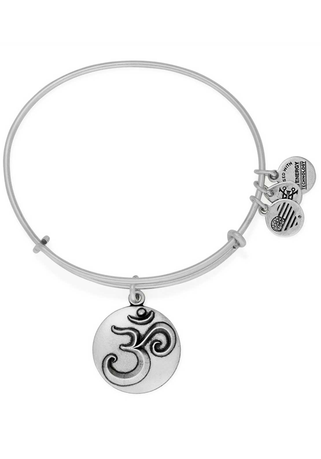 Alex and Ani Om Bracelet, Silver