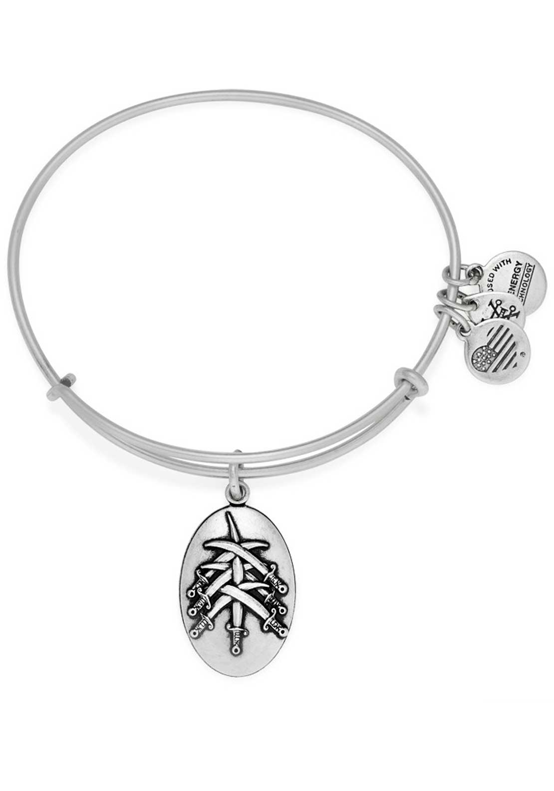 Alex and Ani (+) Energy Seven Swords Bracelet, Silver
