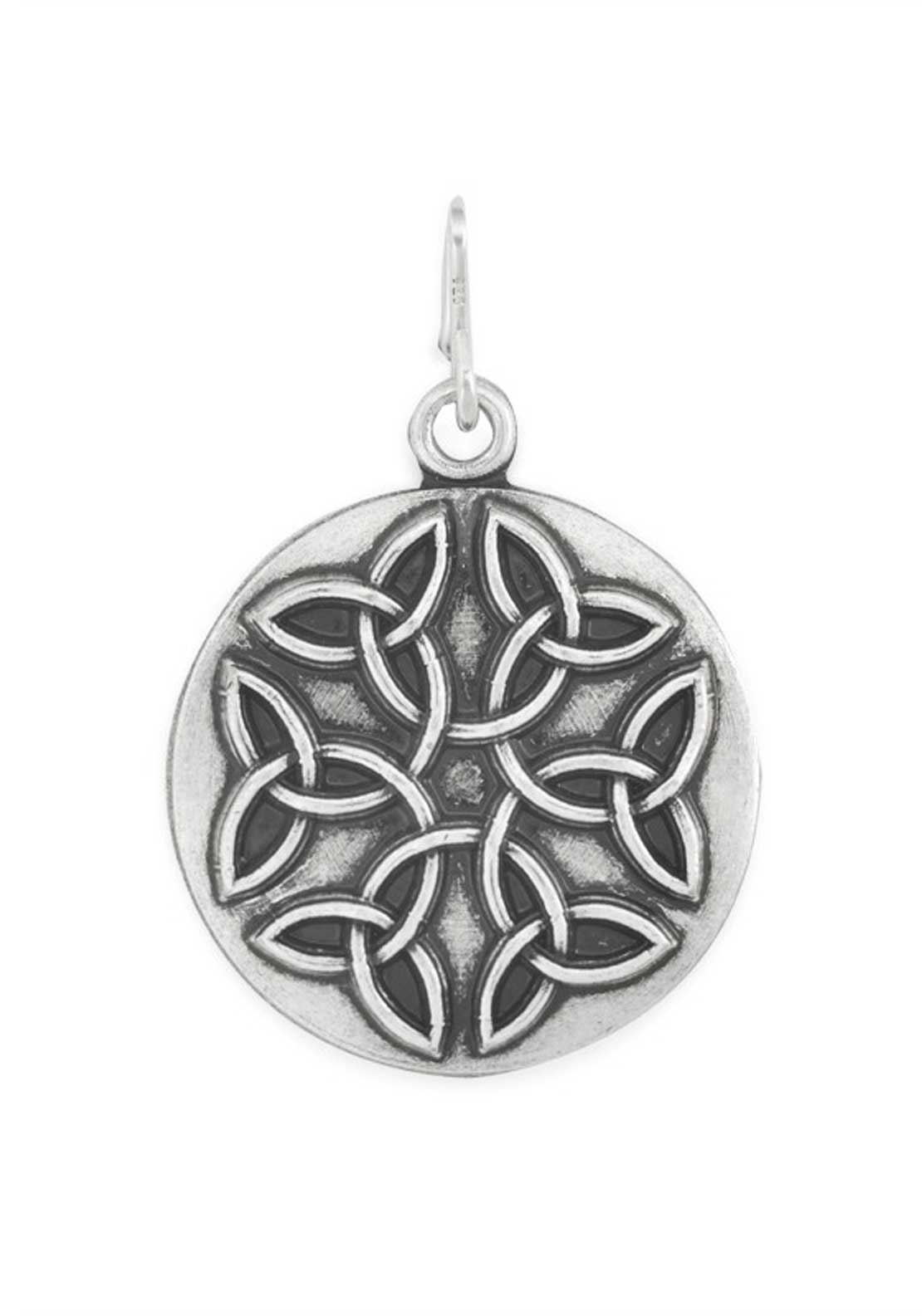 Alex and Ani Chain Station Endless Knot Charm Silver