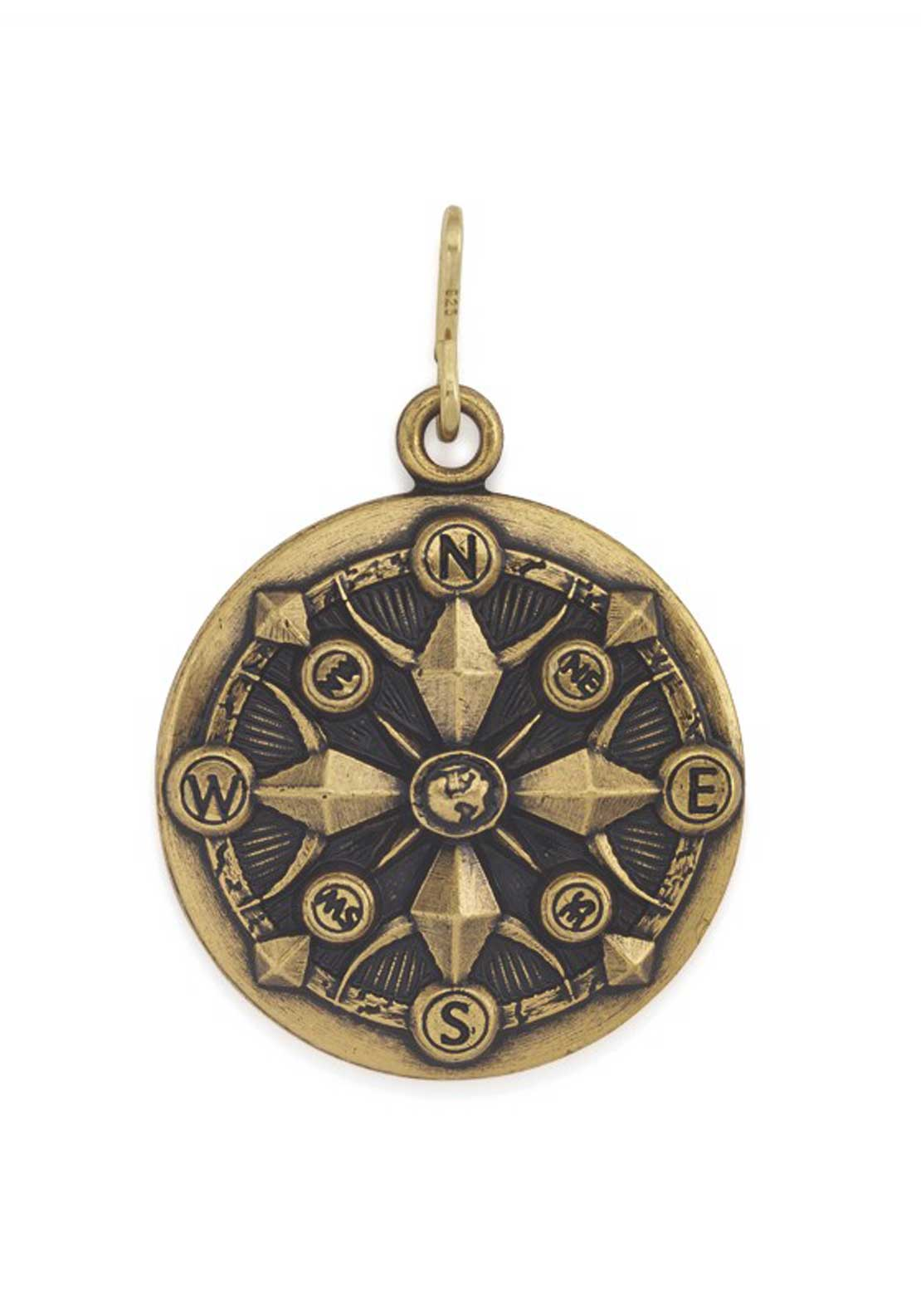 Alex and Ani Chain Station Compass Charm Gold