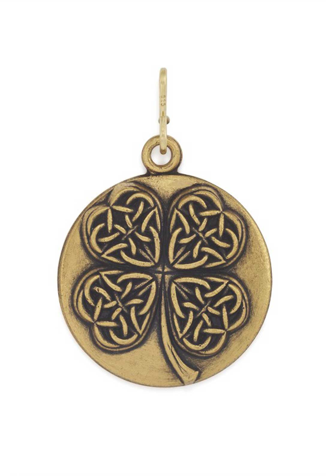 Alex and Ani Chain Station Four Leaf Clover Charm Gold