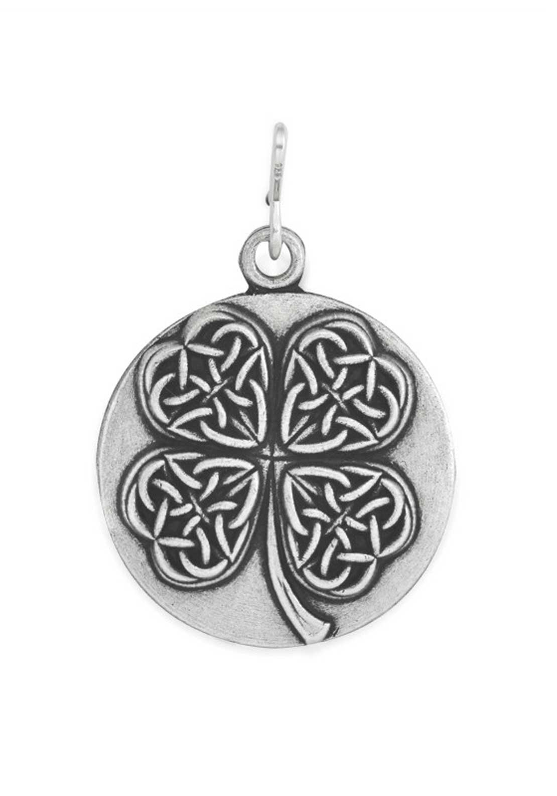 Alex and Ani Chain Station Four Leaf Clover Charm Silver