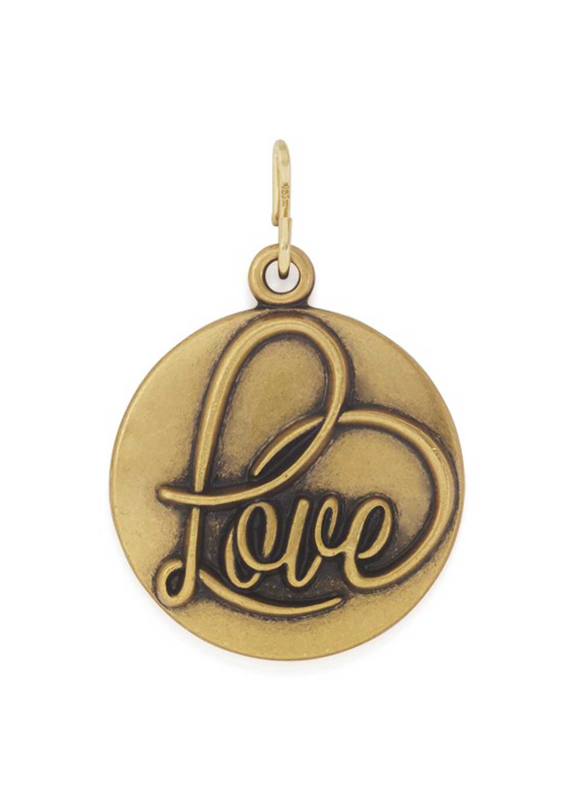 Alex and Ani Chain Station Love Charm Gold