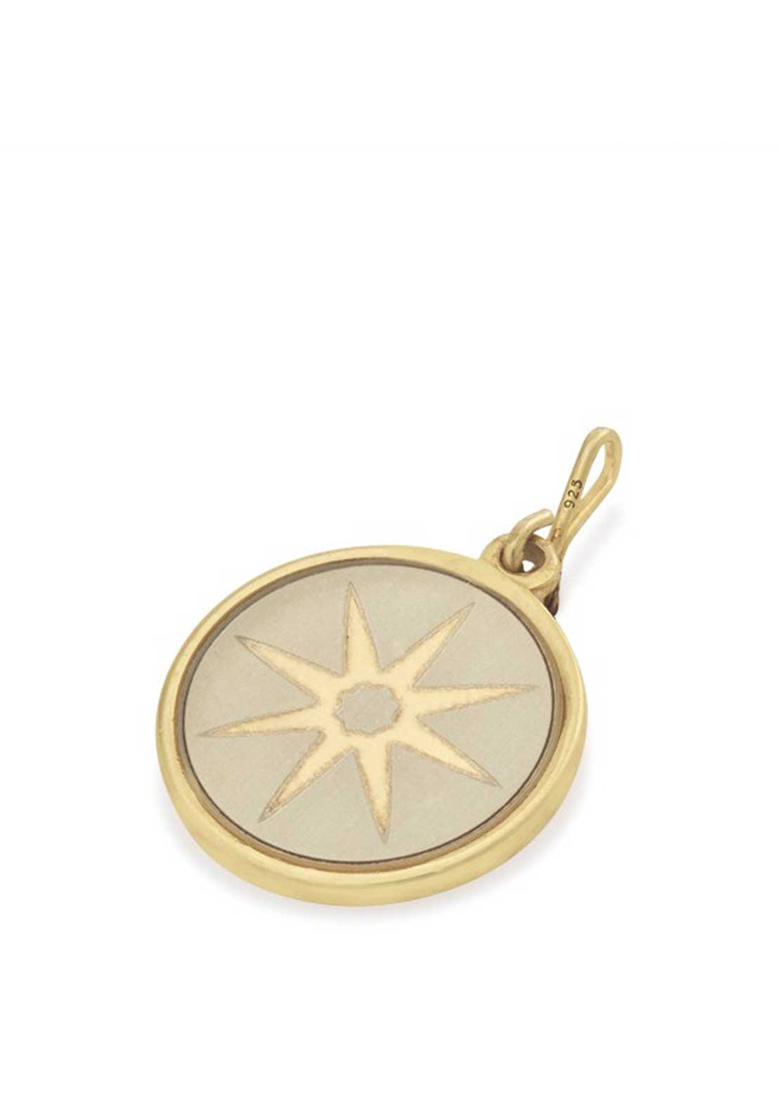 Alex and Ani Chain Station Star of Venus Charm Cream
