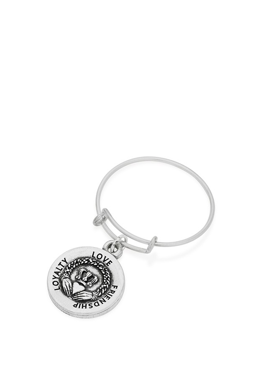 Alex and Ani Wire Claddagh Ring, Silver