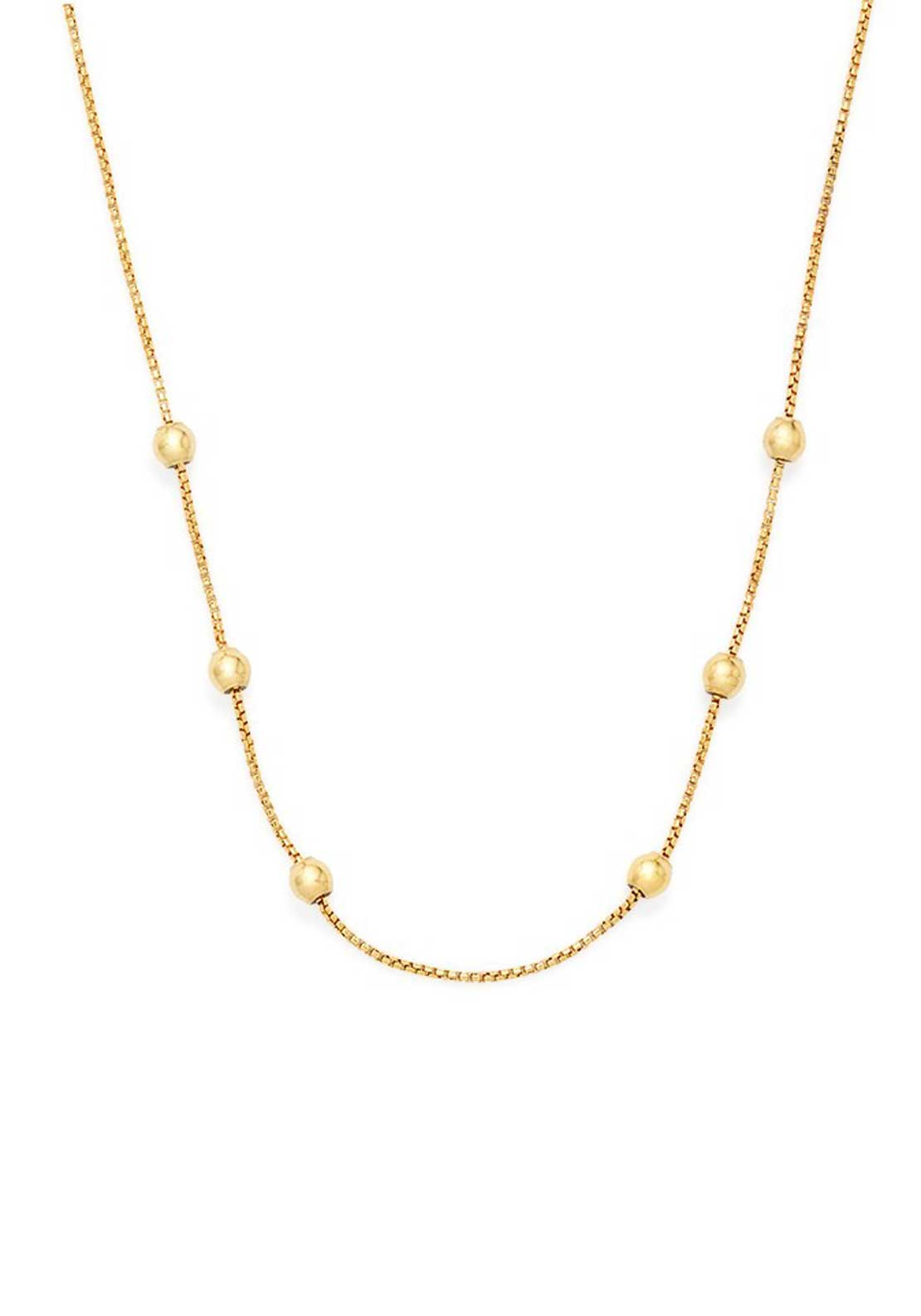 Alex and Ani Chain Station Necklace Gold