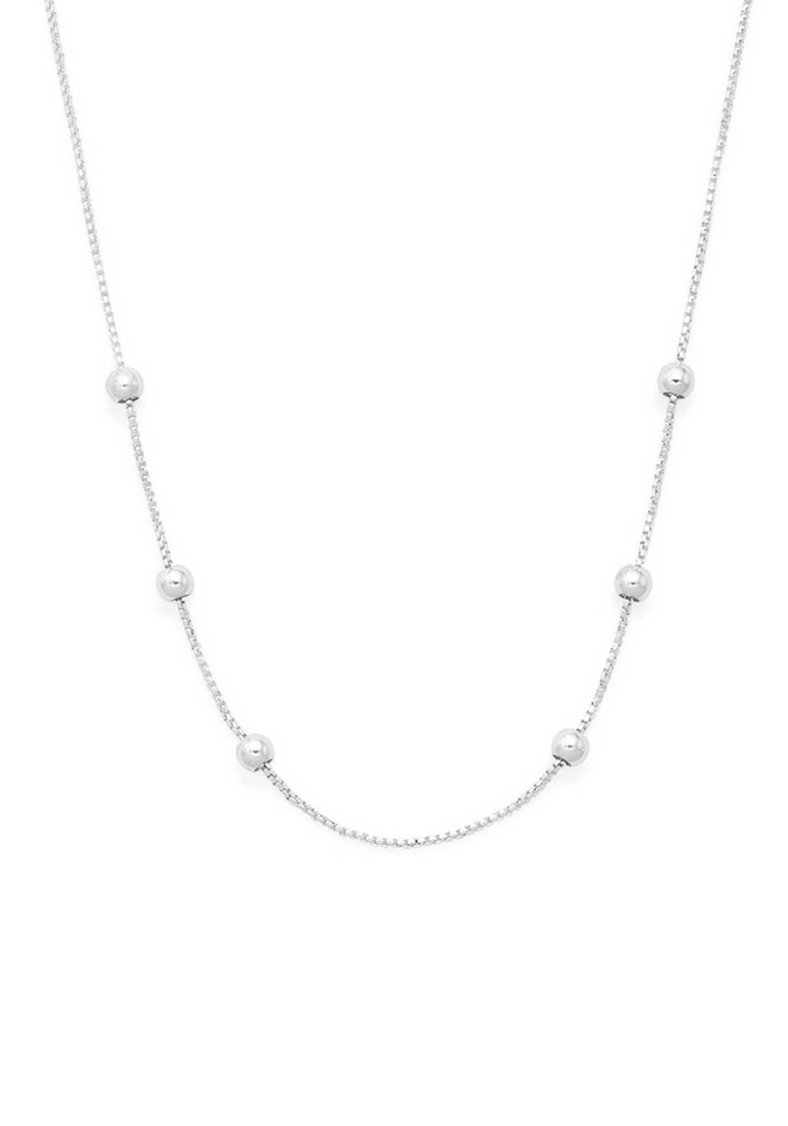 Alex and Ani Chain Station Necklace, Silver