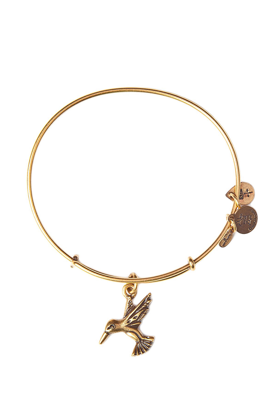Alex and Ani Humming Bird Charm Bracelet, Gold