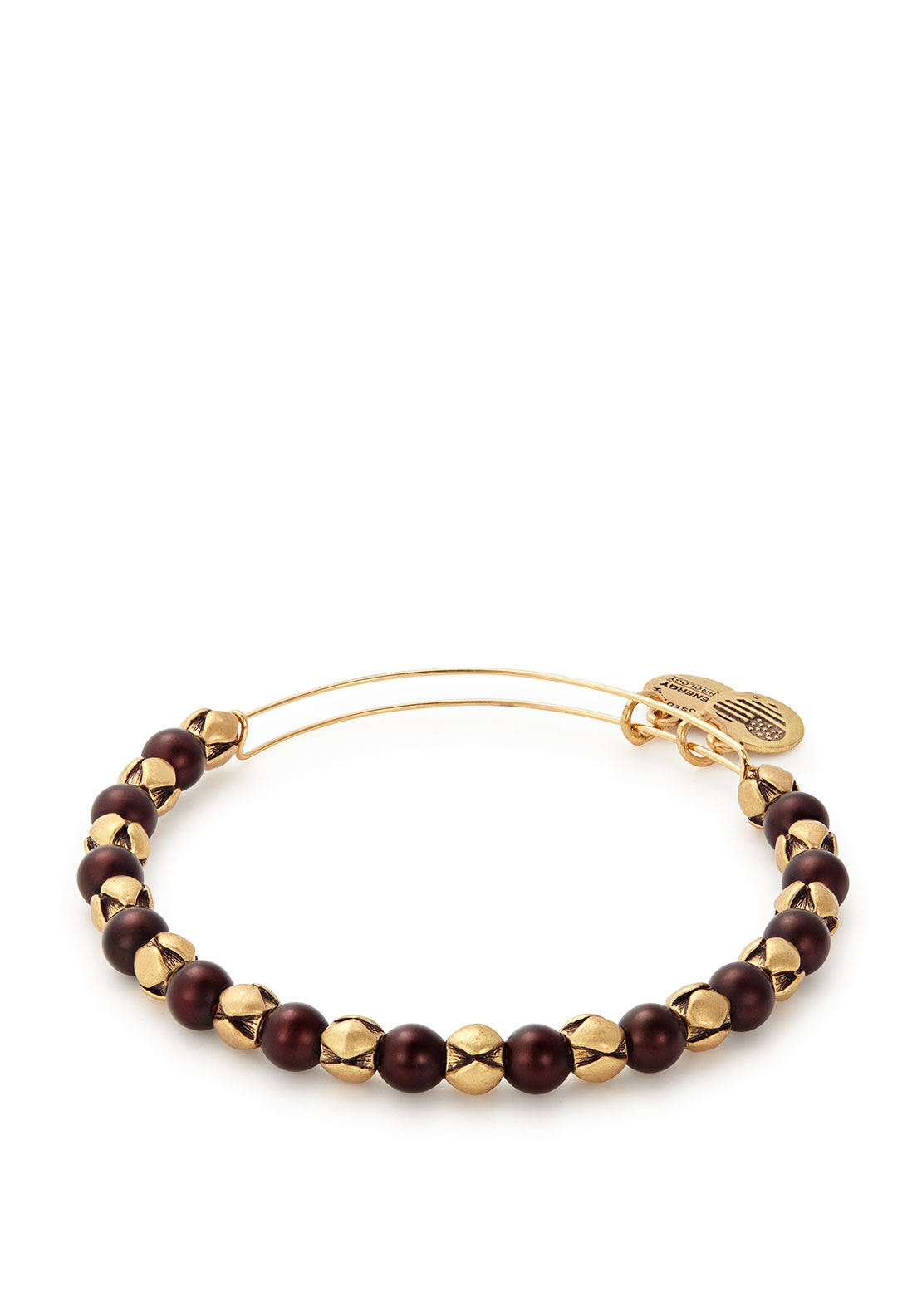 Alex and Ani Snowbell 2016 Edition Beaded Bangle, Gold