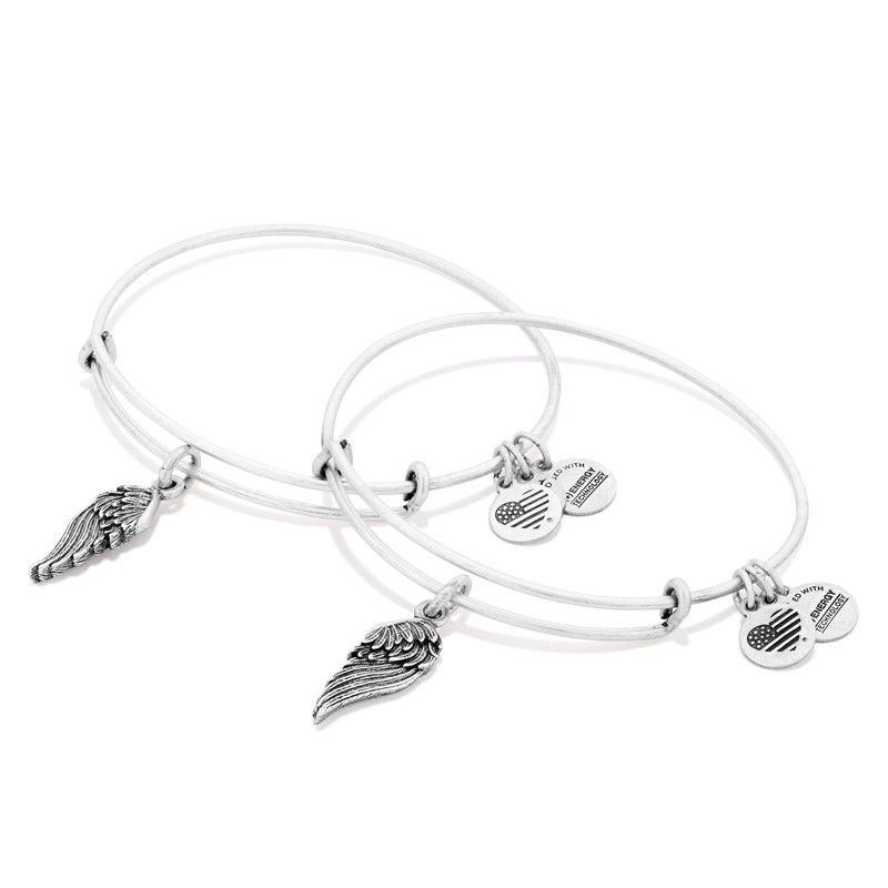 Alex and Ani Wings Set of Two Bracelets, Silver