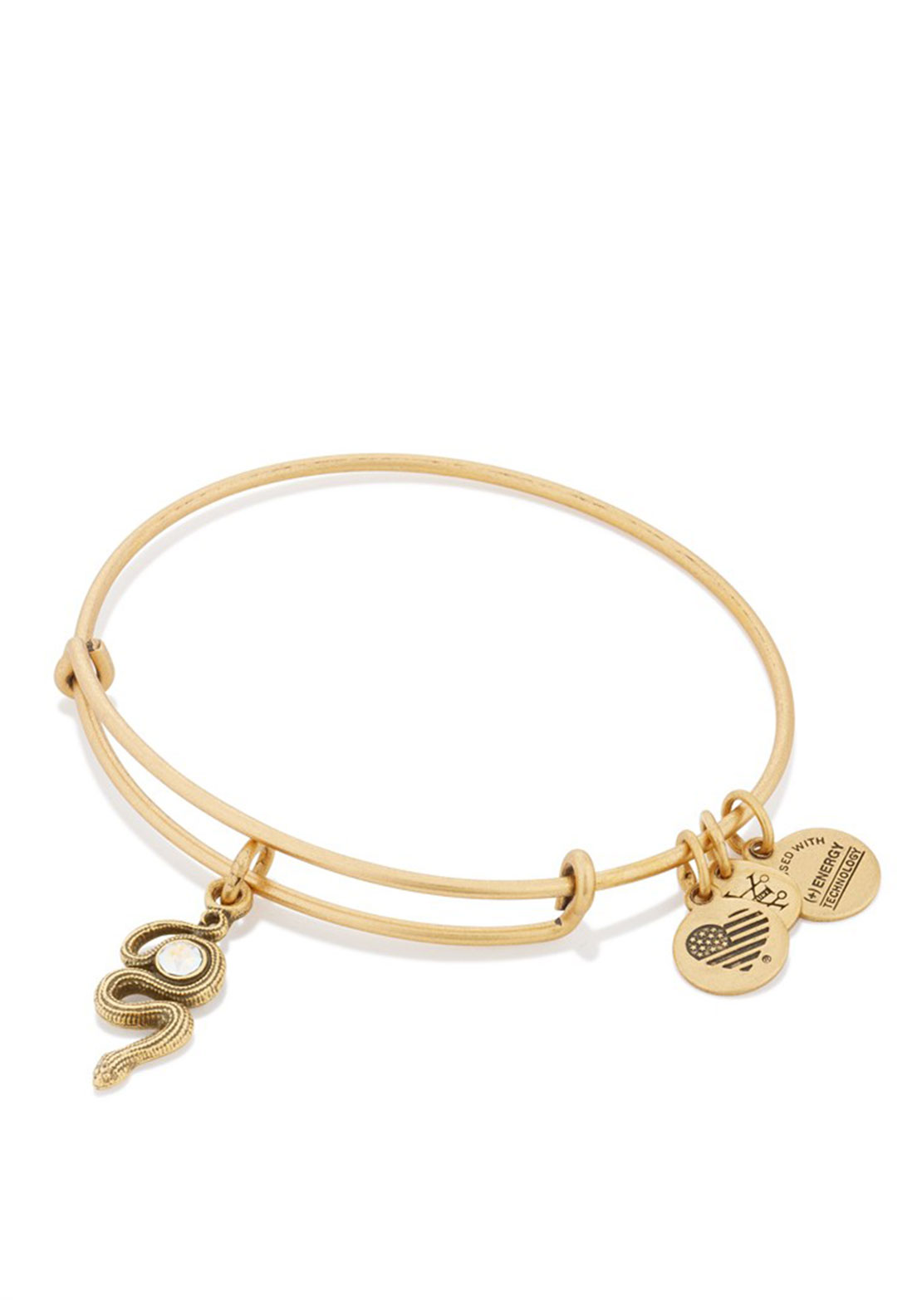 Alex and Ani Snake Charm Bracelet, Gold