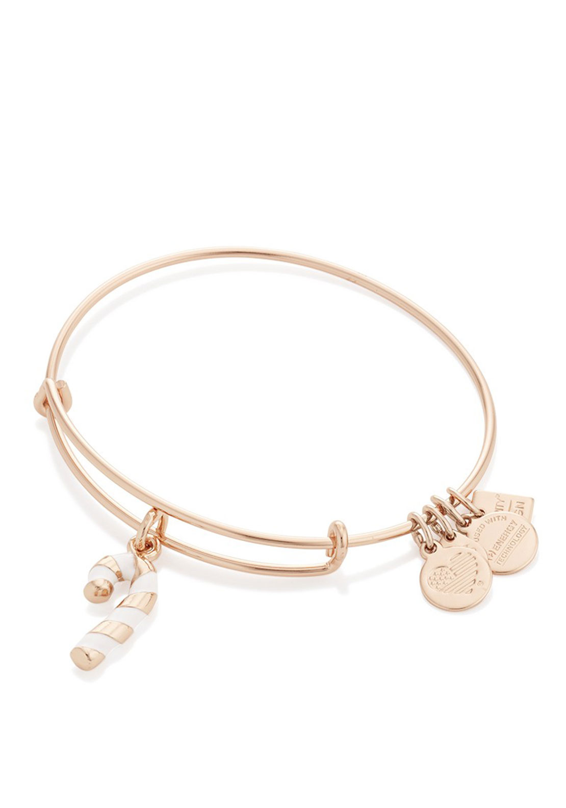 Alex and Ani Candy Cane Charm Bracelet, Rose Gold