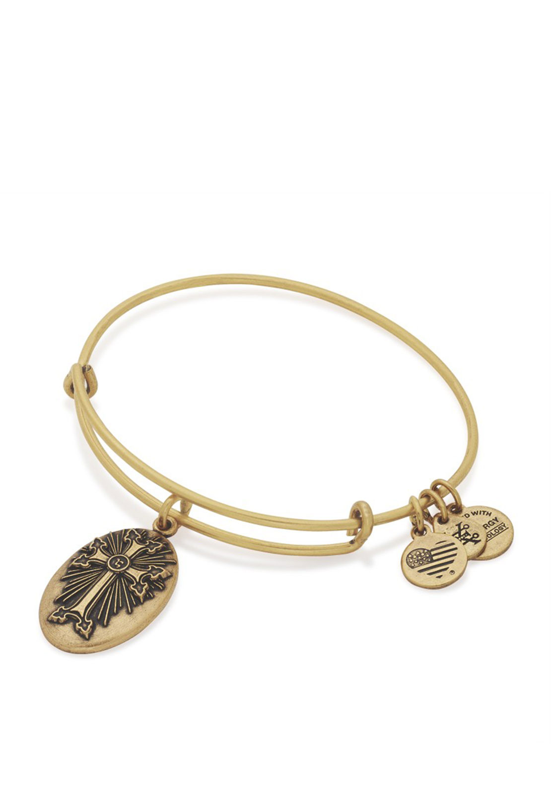 Alex and Ani Armenian Cross Charm Bracelet, Gold