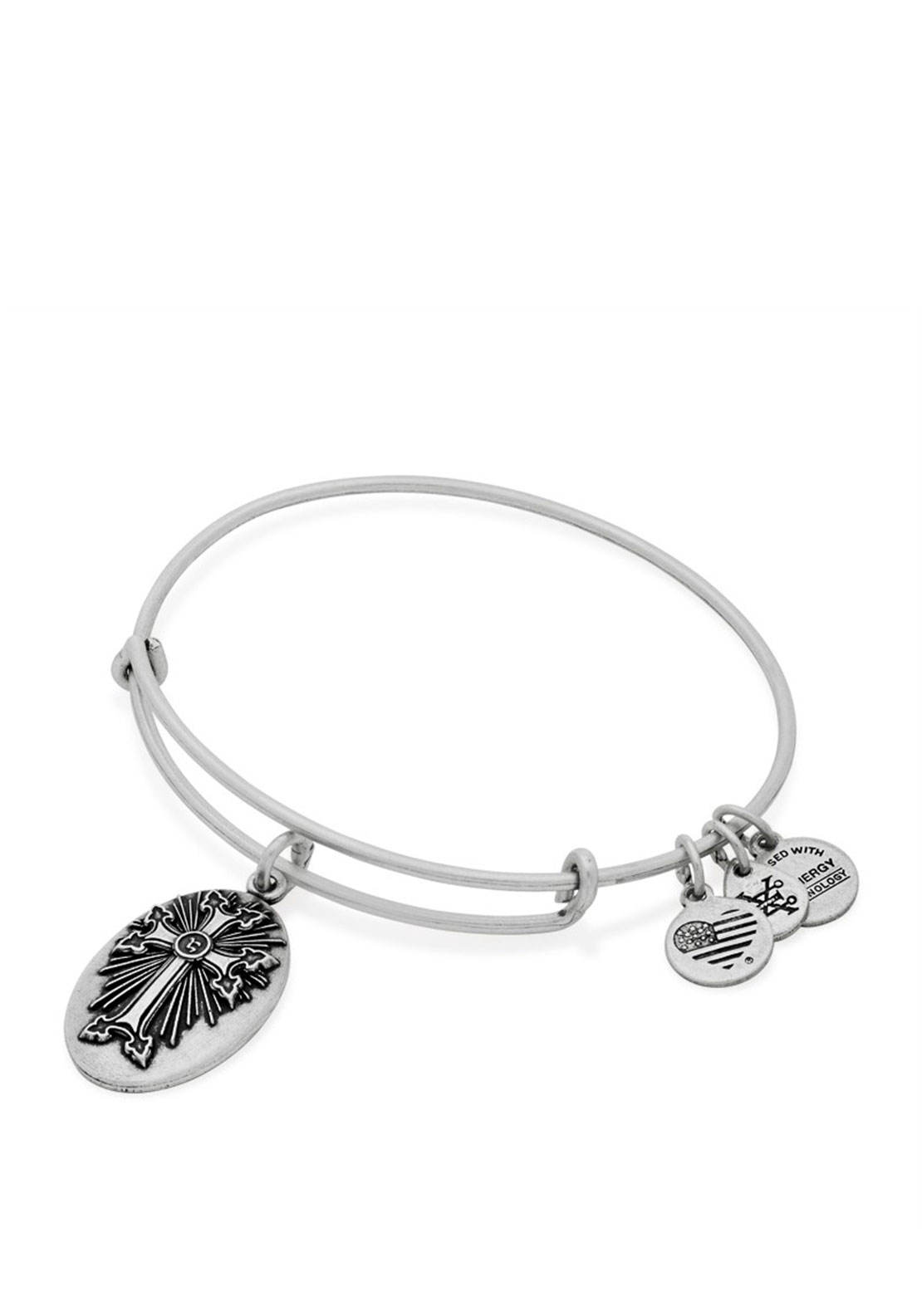 Alex and Ani Armenian Cross Charm Bracelet, Silver