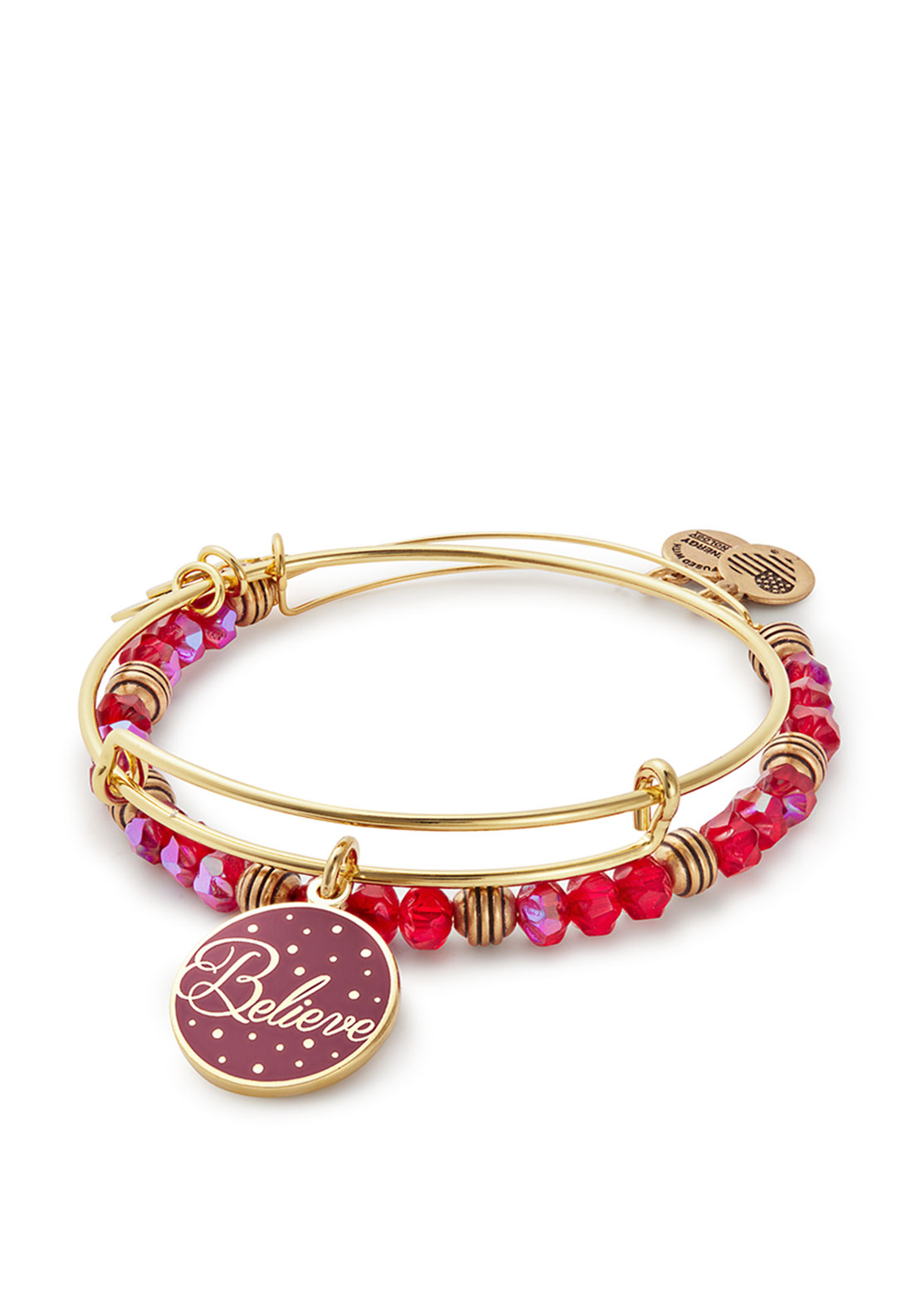 Alex and Ani Believe Set of 2 Expandable Bangles, Gold