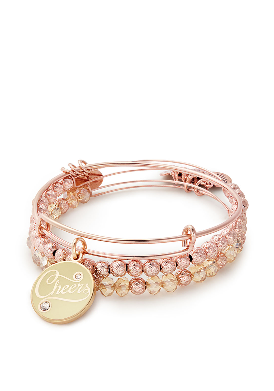Alex and Ani Cheers Set of 3 Bracelets, Rose-Gold