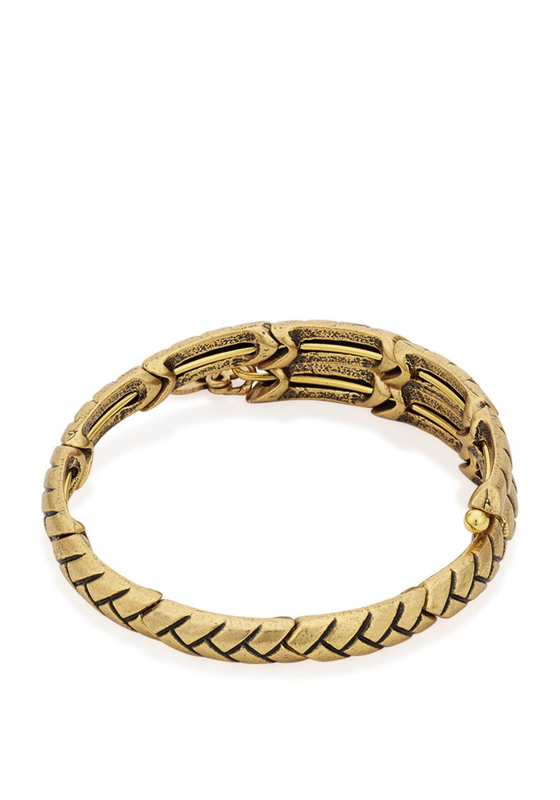 Alex and Ani Natural Weave Bracelet, Gold Plated