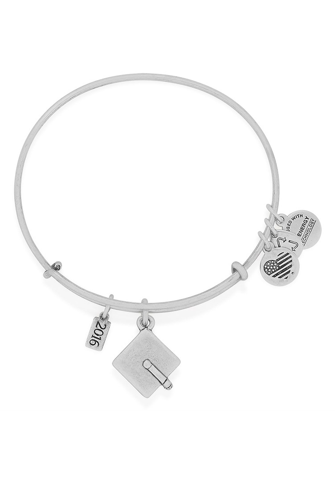 Alex and Ani Graduation Cap Bracelet, Silver