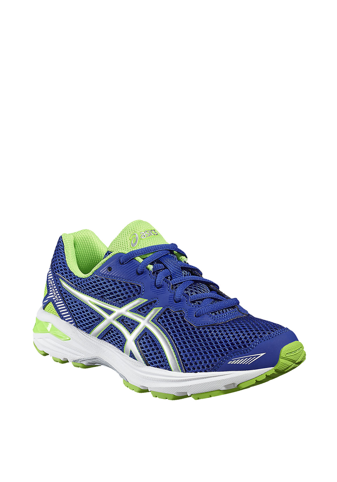 Asics Kids GT-1000 Laced Runners, Green and Purple