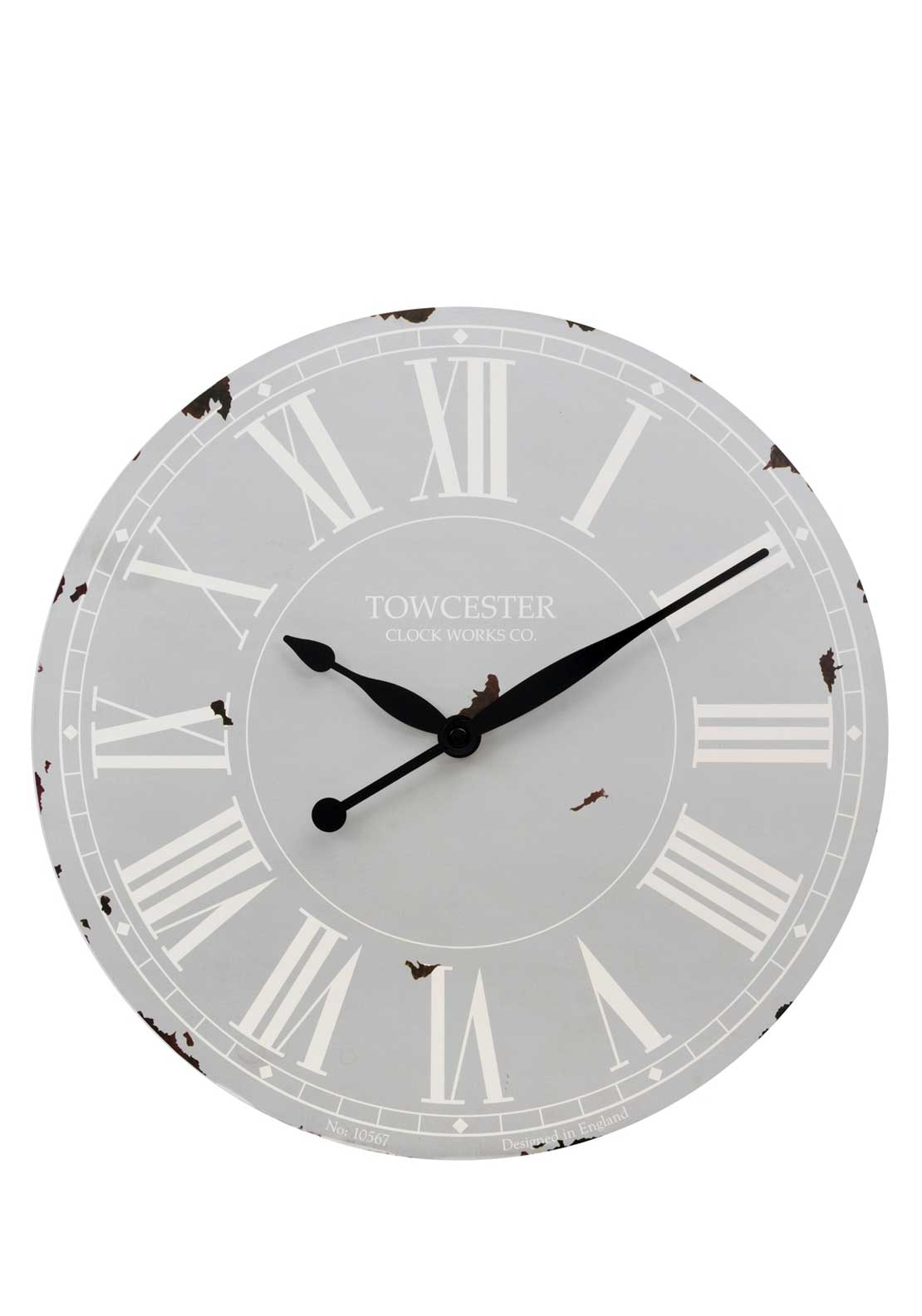 Acctim Bamford Wall Clock, Smokey Grey