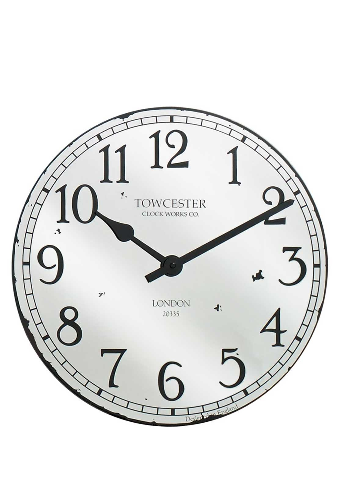 Acctim Claridge Large Wall Clock, Glass