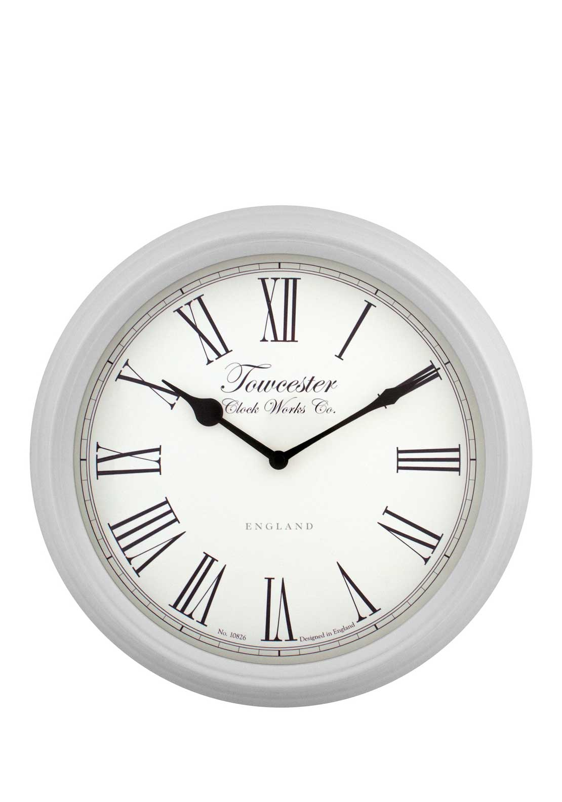 Acctim Rosedale Wall Clock, Soft Grey