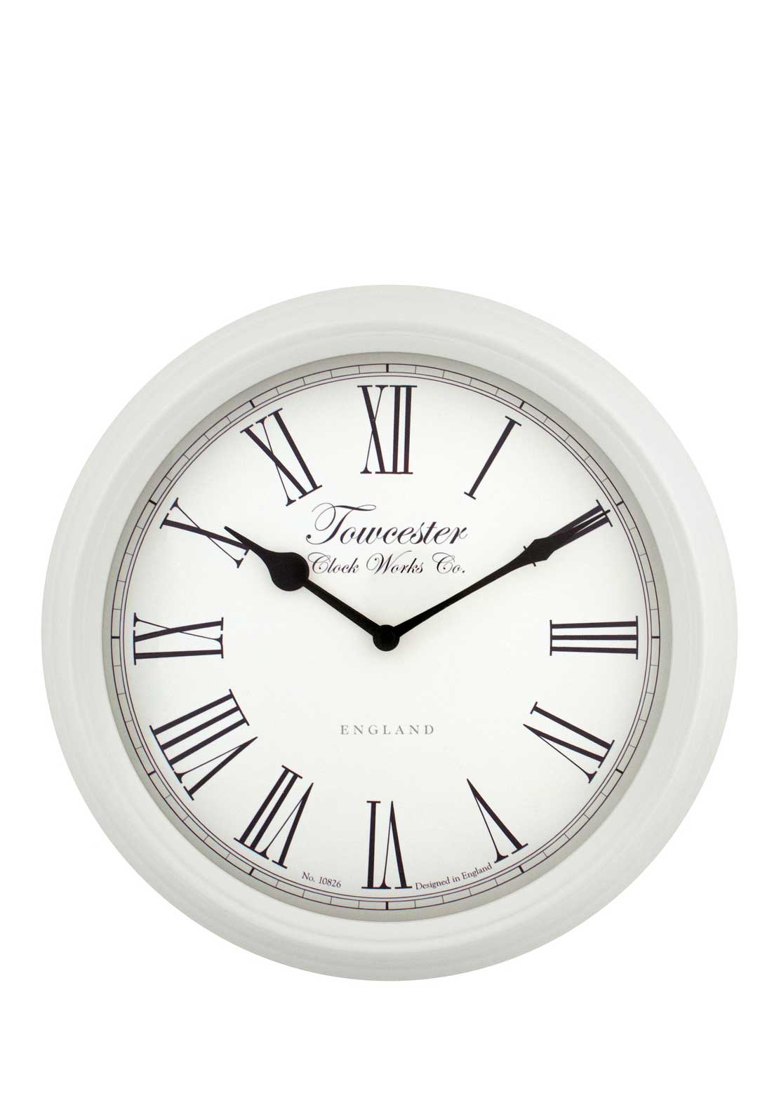 Acctim Rosedale Wall Clock, White