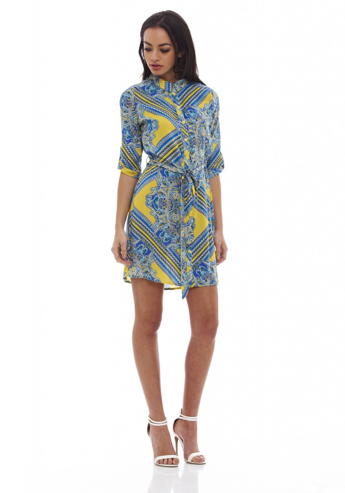 AX Paris Multi Print Shirt Dress, Multi-Coloured