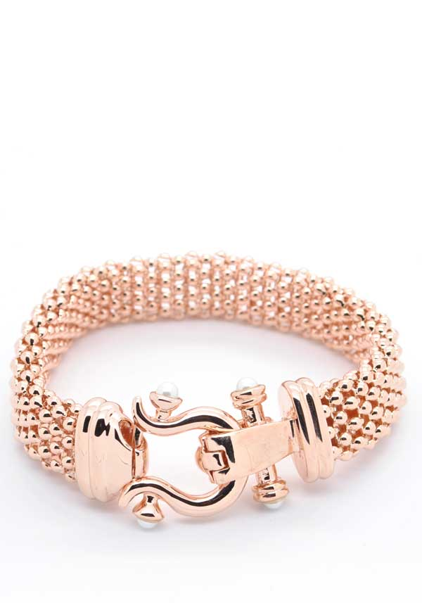 Absolute Jewellery Heavy Belt Style Bracelet, Rose Gold