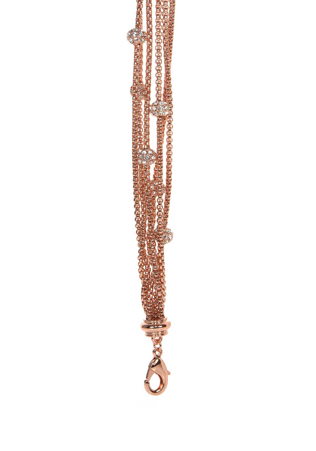 Absolute Jewellery Multi Strand Disco Ball Bracelet, Rose Gold