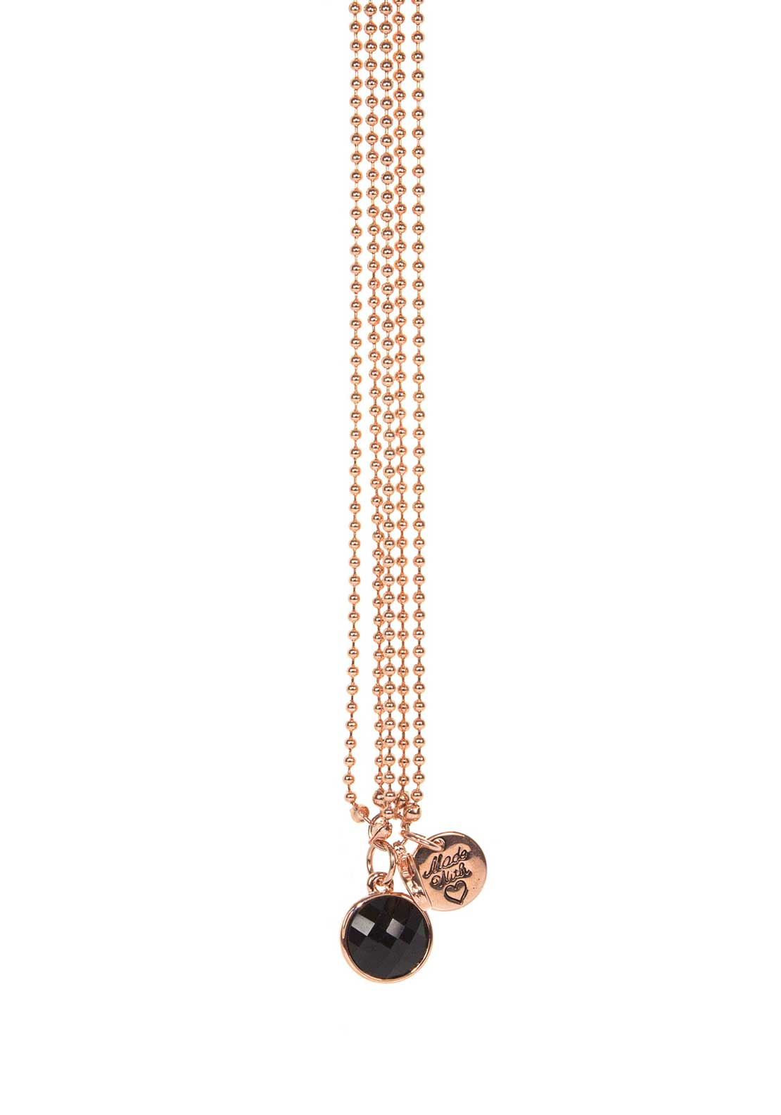 Absolute Jewellery Multi Strand Ball Chain Bracelet, Rose Gold