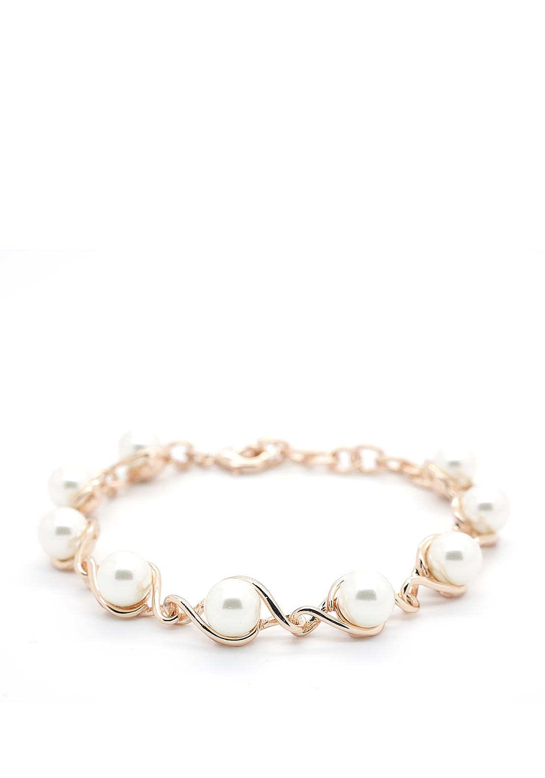 Absolute Pear Studded Bracelet, Rose Gold