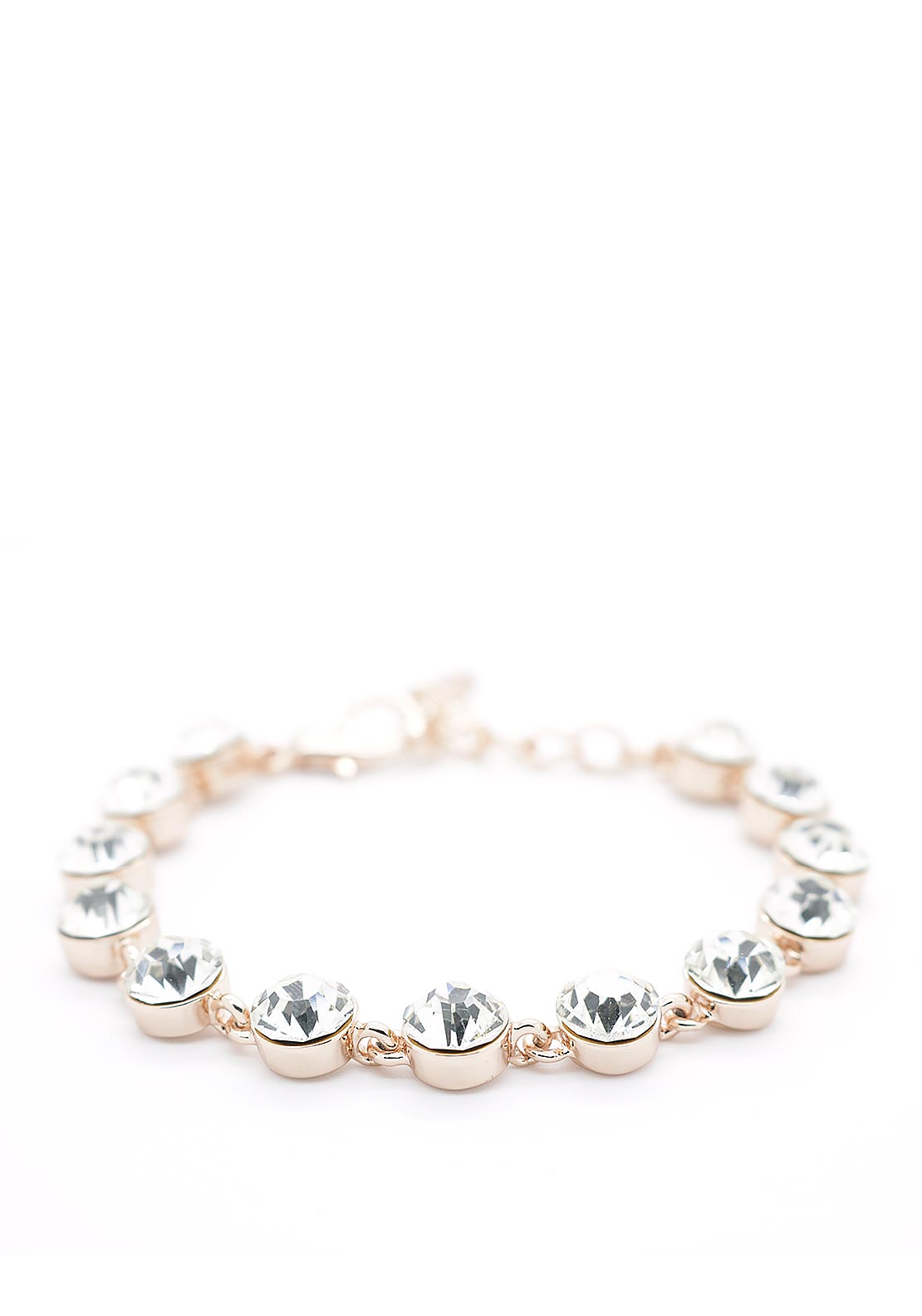 Absolute Crystal Bracelet, Rose Gold