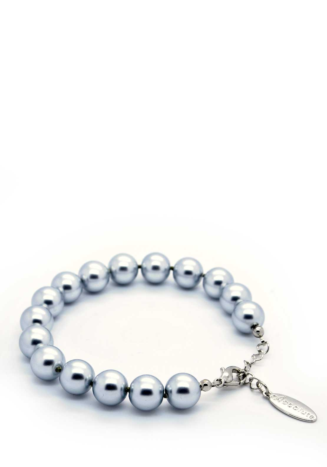 Absolute Jewellery Pearl Bracelet with Silver fixings, Grey
