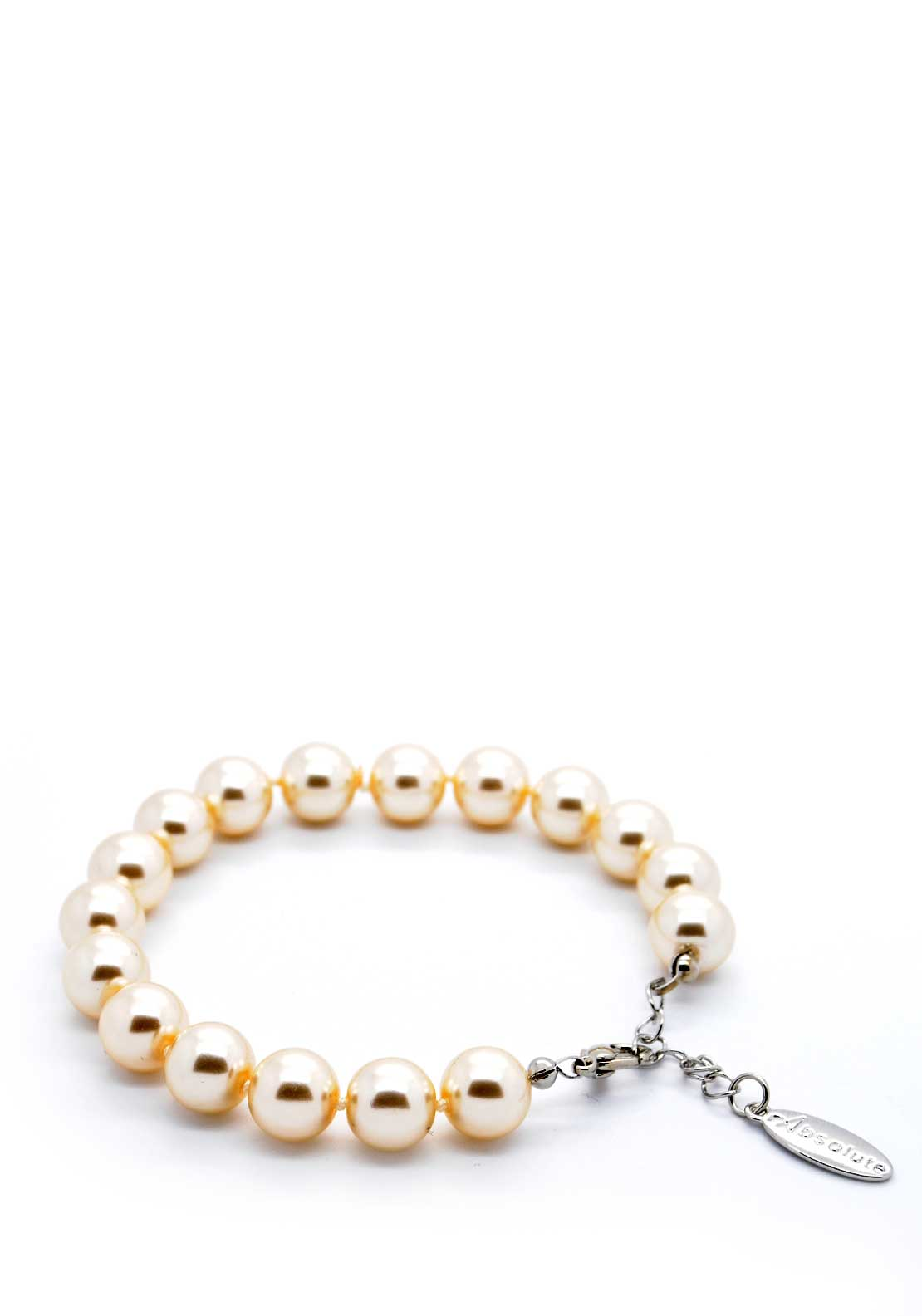 Absolute Jewellery Pearl Bracelet with Silver fixings, Pearl