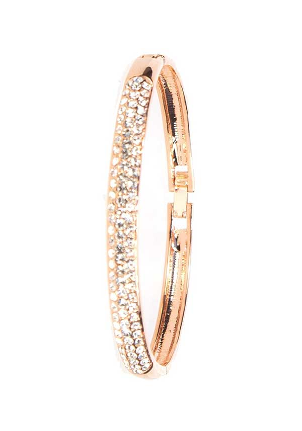 Absolute Jewellery Crystal Embellished Bangle, Rose Gold