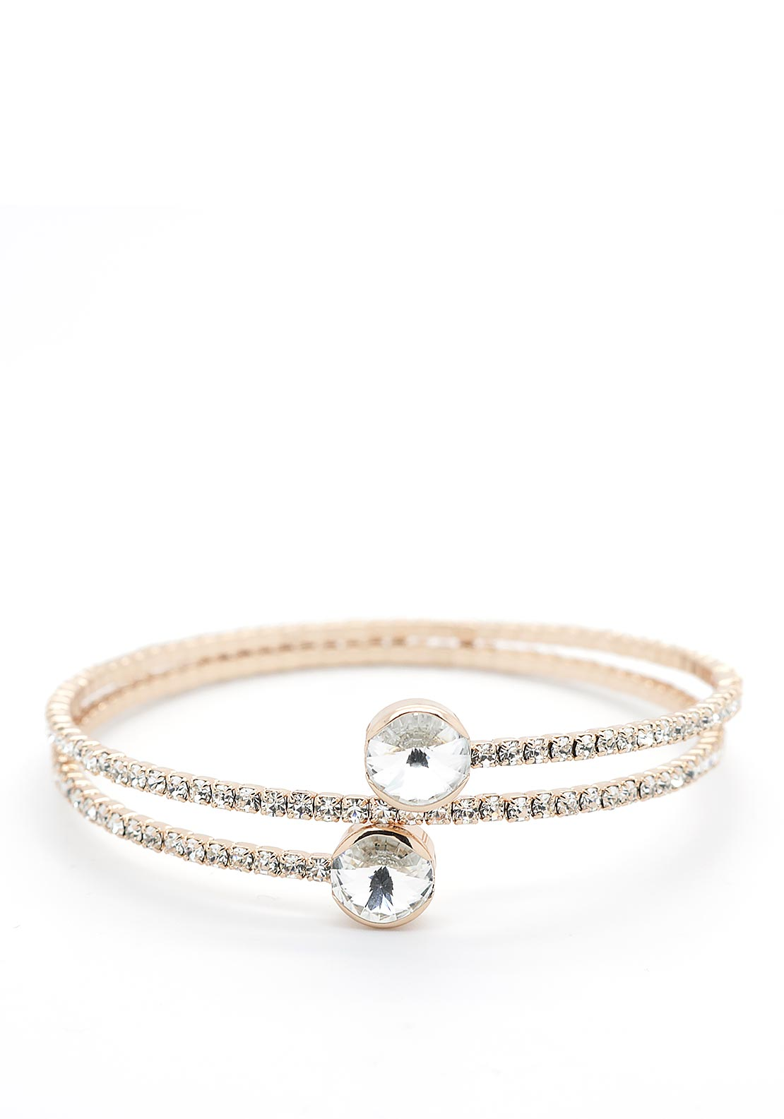 Absolute Crystal Wrap-Around Bracelet, Rose Gold
