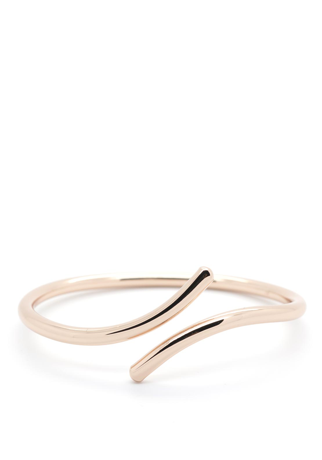 Absolute Plain Twist Bangle, Rose Gold
